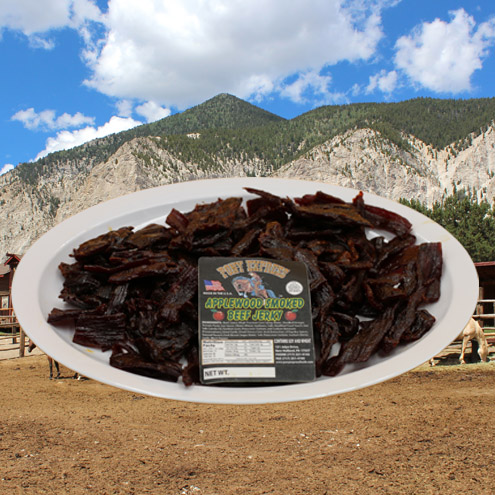 applewood smoked flavored beef jerky 16oz pack