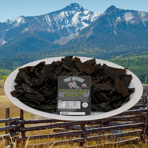 black peppered flavored beef jerky 16oz pack