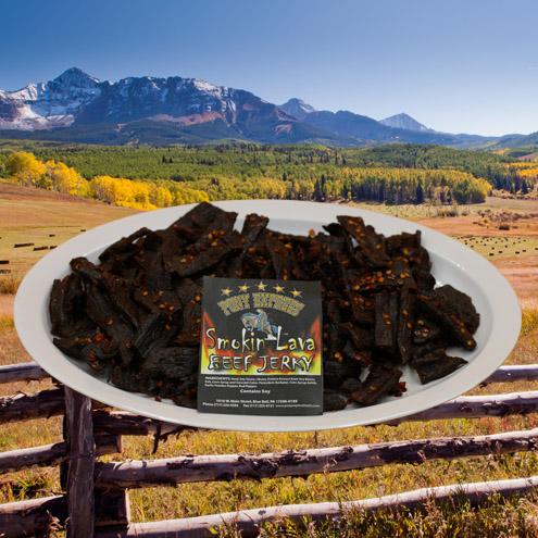 smokin' lava flavored beef jerky 16oz pack