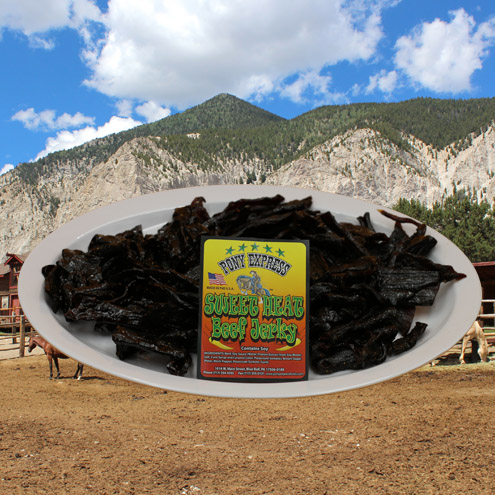 sweet heat flavored beef jerky 16oz pack
