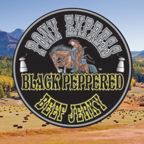 black peppered flavored beef jerky logo