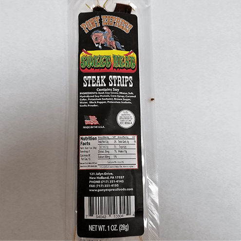 sweet heat flavored beef jerky steaks 1oz
